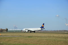 March, 22nd 2015, Amsterdam Schiphol Airport D-AEBE Lufthansa Ci Royalty Free Stock Image