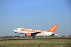 March, 22nd 2015, Amsterdam Schiphol Airport G-EZBC easyJet Airb Royalty Free Stock Photography