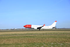March, 22nd 2015, Amsterdam Schiphol Airport LN-NGO Norwegian Ai Royalty Free Stock Images
