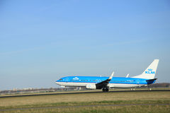 March, 22nd 2015, Amsterdam Schiphol Airport PH-BXL KLM Royal Du Royalty Free Stock Image