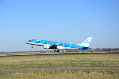 March, 22nd 2015, Amsterdam Schiphol Airport PH-EZZ KLM Cityhopp Royalty Free Stock Images