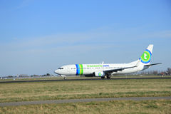 March, 22nd 2015, Amsterdam Schiphol Airport PH-HZX Transavia Bo Stock Images