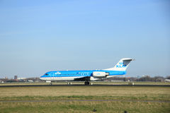 March, 22nd 2015, Amsterdam Schiphol Airport PH-KZI KLM Cityhopp Royalty Free Stock Photography