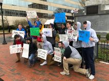 March For Our Lives in Asheville royalty free stock image