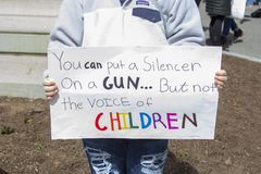 March for our Lives in Hartford Connecticut stock photo