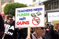 March for Our Lives Los Angeles Event royalty free stock photo