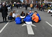 March For Our Lives on March, 24 in Washington, DC Stock Photo