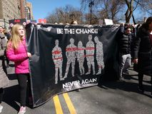 Change, Never Again, March for Our Lives, Protesting Gun Violence, NYC, NY, USA stock images