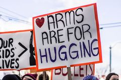 March for Our Lives Seattle Stock Photo