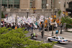 March Over Job Losses Royalty Free Stock Photography