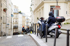 MARCH 1, 2015 - PARIS: Lane in the center of Paris Royalty Free Stock Photos