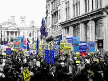 People`s Vote March 23rd March 2019 royalty free stock photography