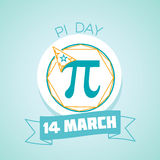 14 March Pi day. Calendar for each day on March 14. Greeting card. Holiday - Pi day. Icon in the linear style Vector Illustration