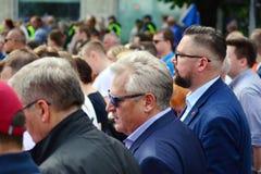 March `Poland in Europe`. Former Polish president Aleksander Kwasniewski. Warsaw,Poland. 18 May 2019. March `Poland in Europe`. Former Polish president royalty free stock photos