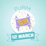 12 March Purim vector illustration