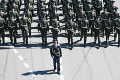 March of the Russian military officers Stock Photography