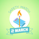 2 March  Safety match Stock Photos