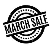 March Sale rubber stamp. Grunge design with dust scratches. Effects can be easily removed for a clean, crisp look. Color is easily changed stock illustration