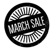 March Sale rubber stamp. Grunge design with dust scratches. Effects can be easily removed for a clean, crisp look. Color is easily changed vector illustration