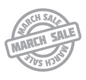 March Sale rubber stamp. Grunge design with dust scratches. Effects can be easily removed for a clean, crisp look. Color is easily changed royalty free illustration