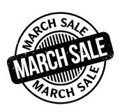 March Sale rubber stamp Stock Image