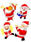 March of Santa Claus Stock Images