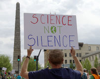 March For Science Sign Royalty Free Stock Photo