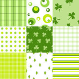 March 17. Set of seamless patern on St. Patrik day Stock Images