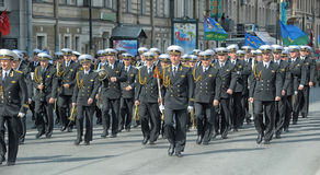 March of soldiers on a parade Royalty Free Stock Images
