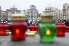 March of solidarity against terrorism at Kiev Stock Photography