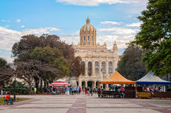 13 of March Sqare - Old Havana, Cuba. Havana, Cuba - March 6, 2016: People gather almost every late afternoon at the park in front of Museum of Revolution in Old Stock Photography