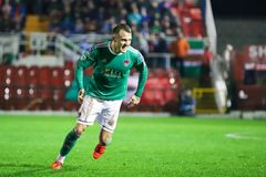 Liam Nash at League of Ireland Premier Division match Cork City FC vs Derry City FC. March 1st, 2019, Cork, Ireland - Liam Nash at League of Ireland Premier royalty free stock photography