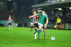 Shane Griffin at League of Ireland Premier Division match Cork City FC vs Derry City FC. March 1st, 2019, Cork, Ireland - Shane Griffin at League of Ireland royalty free stock photos