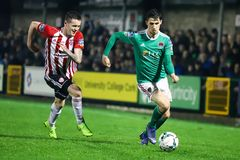 Shane Griffin at League of Ireland Premier Division match Cork City FC vs Derry City FC. March 1st, 2019, Cork, Ireland - Shane Griffin at League of Ireland royalty free stock photography