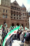 Syrian Supporters in Toronto Royalty Free Stock Photos