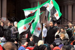 Syrian Supporters in Toronto Stock Photo