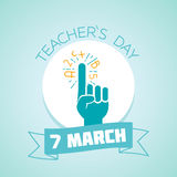 7 March teacher Day Royalty Free Stock Image