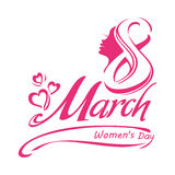 8 March. Template Women`s Day design vector illustration