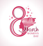 8 March. 8 March template. Women's Day International Vector Illustration
