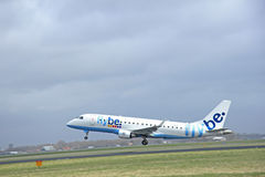 March, 27th 2015, Amsterdam Schiphol Airport  G-FBJD Flybe Embra Stock Photography