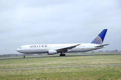 March, 27th 2015, Amsterdam Schiphol Airport  N651UA United Airl Royalty Free Stock Photos