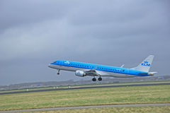 March, 27th 2015, Amsterdam Schiphol Airport  PH-EZS KLM Cityhop Stock Image