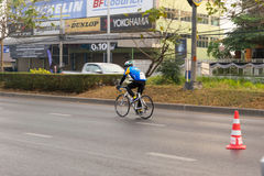 March 4th, 2017 Central Nonthaburi, Thailand has hosted the cyclists along the King`s Cup. There are many people who attended the Royalty Free Stock Images