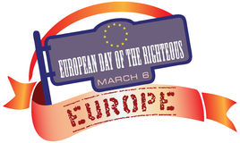 March 6th European Day of the Righteous Royalty Free Stock Image