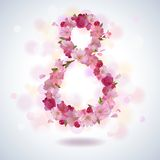 March, 8th greeting background Royalty Free Stock Images