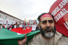 March to commemorate Mavi Marmara raid Royalty Free Stock Photo