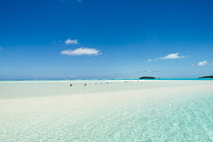 Endless beach Pacific Island Royalty Free Stock Photo