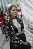March to protest Circassian genocide. Istanbul,Turkey-May 20,2012: Circassian activist group protest 'genocide and exile of 1864' on May 20, 2012 in Istanbul Stock Photos
