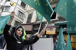 March to protest Circassian genocide Stock Photography