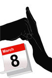 March 8 to Stop Violence Against Women Royalty Free Stock Photos